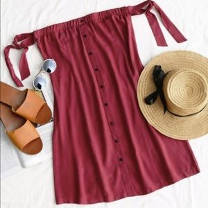 NWT tie sleeve button down dress